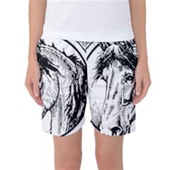 Framed Horse Women s Basketball Shorts