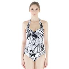 Framed Horse Halter Swimsuit
