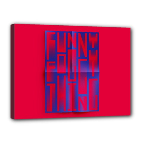 Funny Foggy Thing Canvas 16  x 12