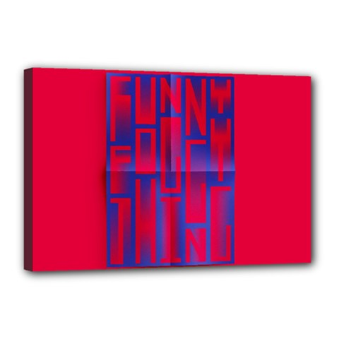 Funny Foggy Thing Canvas 18  X 12