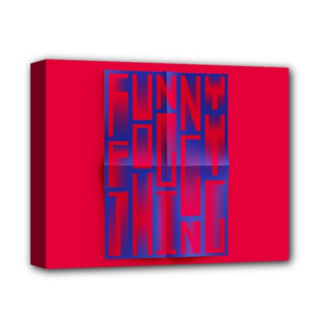 Funny Foggy Thing Deluxe Canvas 14  x 11