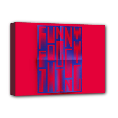 Funny Foggy Thing Deluxe Canvas 16  X 12