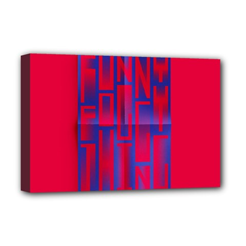 Funny Foggy Thing Deluxe Canvas 18  X 12