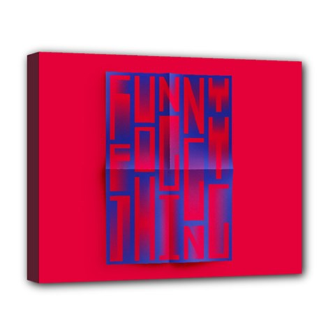 Funny Foggy Thing Deluxe Canvas 20  x 16