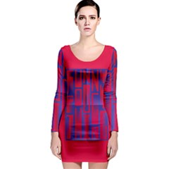 Funny Foggy Thing Long Sleeve Bodycon Dress