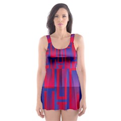 Funny Foggy Thing Skater Dress Swimsuit