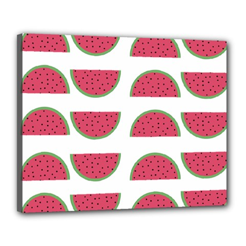 Watermelon Pattern Canvas 20  x 16