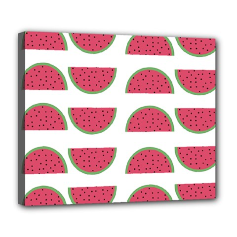 Watermelon Pattern Deluxe Canvas 24  X 20