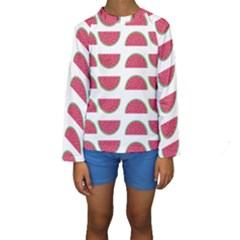 Watermelon Pattern Kids  Long Sleeve Swimwear