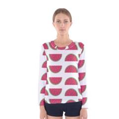 Watermelon Pattern Women s Long Sleeve Tee