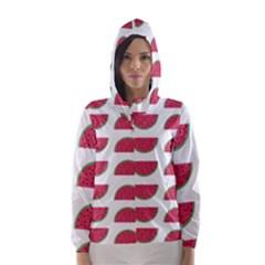Watermelon Pattern Hooded Wind Breaker (Women)