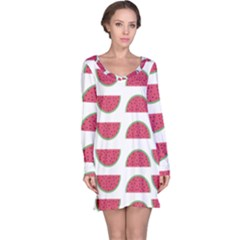 Watermelon Pattern Long Sleeve Nightdress