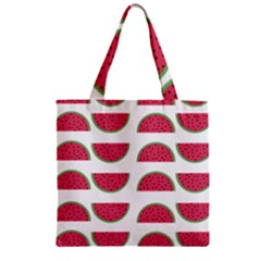 Watermelon Pattern Zipper Grocery Tote Bag
