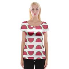 Watermelon Pattern Women s Cap Sleeve Top