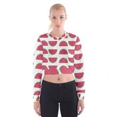 Watermelon Pattern Cropped Sweatshirt