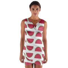 Watermelon Pattern Wrap Front Bodycon Dress