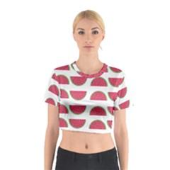 Watermelon Pattern Cotton Crop Top