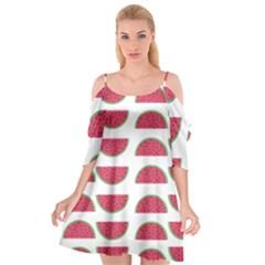 Watermelon Pattern Cutout Spaghetti Strap Chiffon Dress