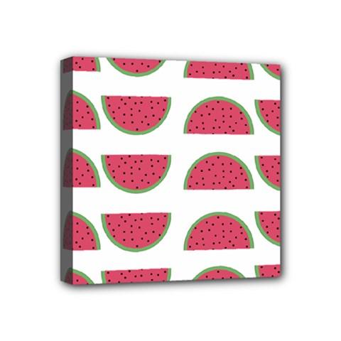 Watermelon Pattern Mini Canvas 4  X 4