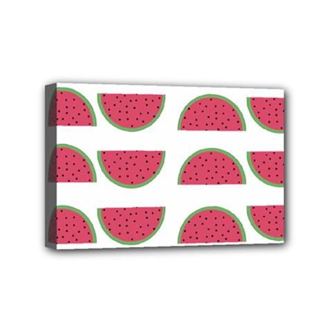 Watermelon Pattern Mini Canvas 6  X 4