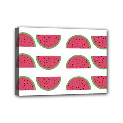 Watermelon Pattern Mini Canvas 7  X 5