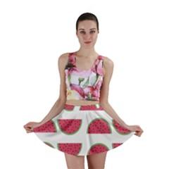 Watermelon Pattern Mini Skirt