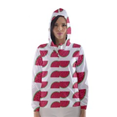 Watermelon Pattern Hooded Wind Breaker (Women)