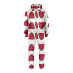 Watermelon Pattern Hooded Jumpsuit (kids)