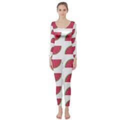Watermelon Pattern Long Sleeve Catsuit