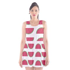 Watermelon Pattern Scoop Neck Skater Dress