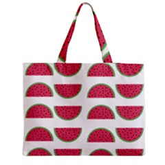 Watermelon Pattern Medium Zipper Tote Bag