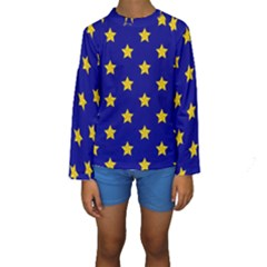 Star Pattern Kids  Long Sleeve Swimwear