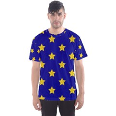 Star Pattern Men s Sport Mesh Tee