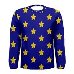 Star Pattern Men s Long Sleeve Tee