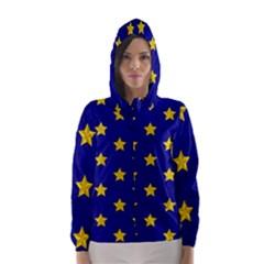 Star Pattern Hooded Wind Breaker (women)