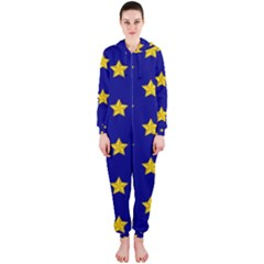 Star Pattern Hooded Jumpsuit (ladies)