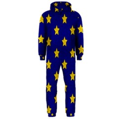 Star Pattern Hooded Jumpsuit (men)