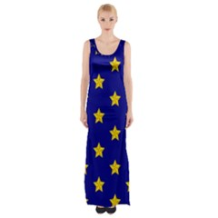 Star Pattern Maxi Thigh Split Dress