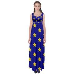 Star Pattern Empire Waist Maxi Dress