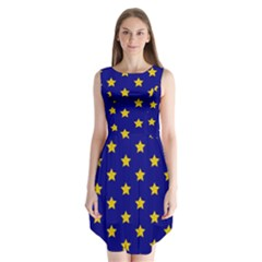 Star Pattern Sleeveless Chiffon Dress