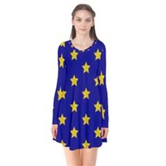 Star Pattern Flare Dress