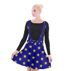 Star Pattern Suspender Skater Skirt