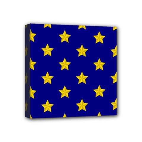 Star Pattern Mini Canvas 4  X 4