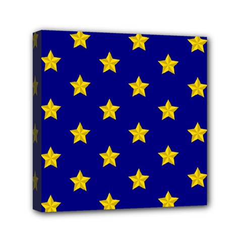 Star Pattern Mini Canvas 6  X 6