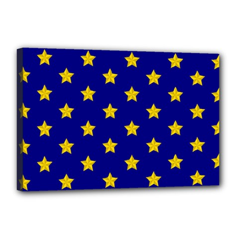 Star Pattern Canvas 18  X 12