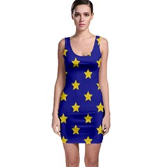 Star Pattern Sleeveless Bodycon Dress