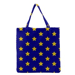 Star Pattern Grocery Tote Bag