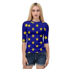 Star Pattern Quarter Sleeve Tee