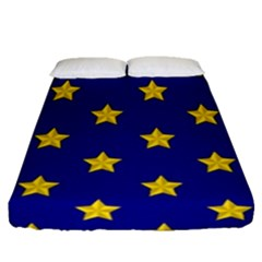 Star Pattern Fitted Sheet (queen Size)