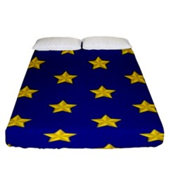 Star Pattern Fitted Sheet (king Size)